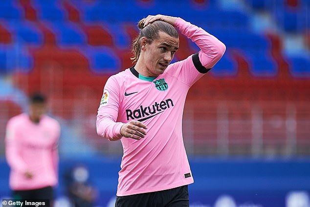 Griezmann has often faced scrutiny over his performances since his £107m move in 2019