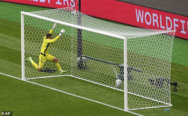 The Czech Republic striker launched a long range effort that beat David Marshall at Hampden