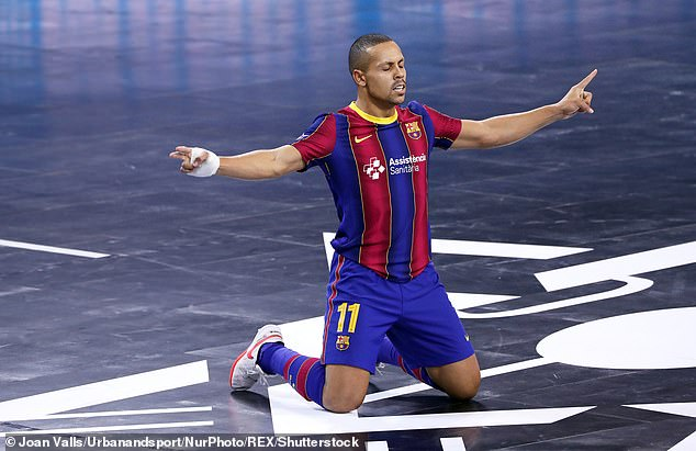 Ferrão's volley for Barcelona in the Futsal Champions League rounds out the top 10 goals