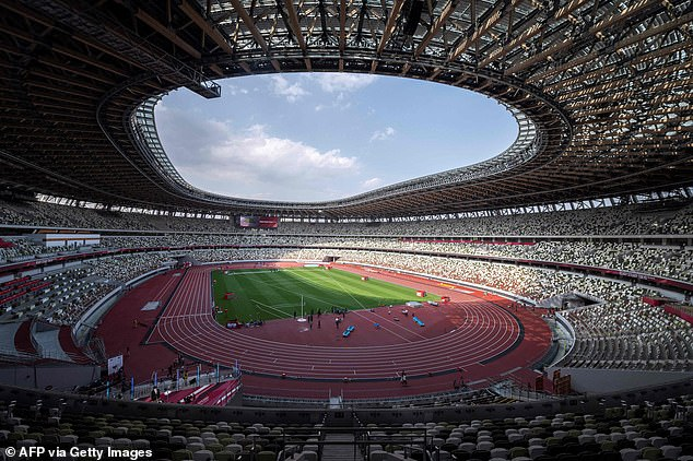 The Opening Ceremony of the Tokyo Olympics is due to take place on Friday, but organisers have been spooked by rising Covid cases among athletes and Games staff (file image)