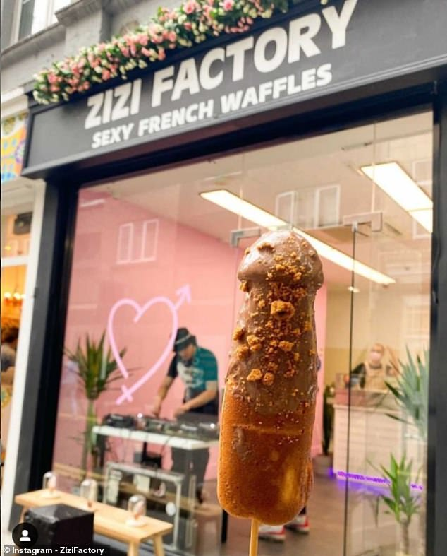 Zizi Factory in London's Covent Garden puts a rude twist on traditional French snack after buying waffle makers with penis and vagina moulds