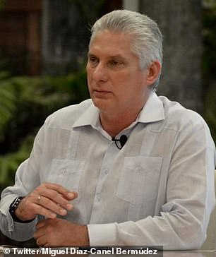 Cuban leader Miguel Diaz-Canel has accused the U.S. of funding and orchestrating the demonstrations