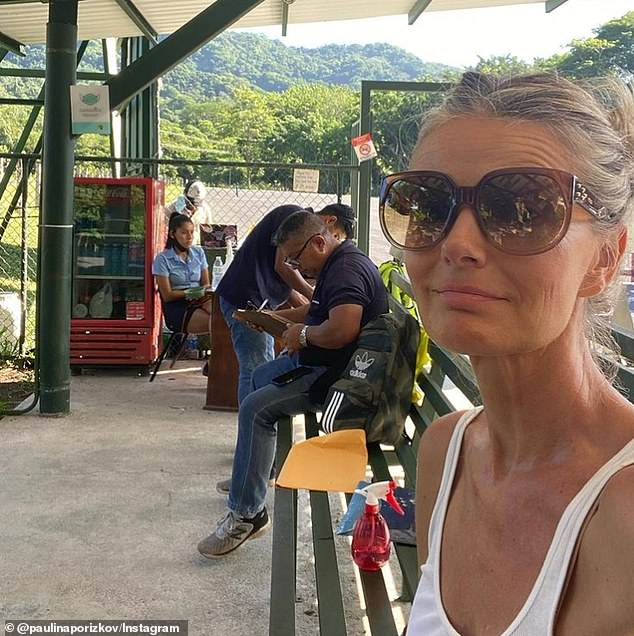 Back to work: Porizkova flew to New York City from theTambor Airport in Costa Rica (pictured) after enjoying a tropical vacation