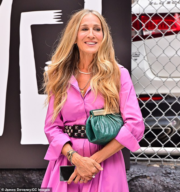 Wearing a wedding band: Sarah's character Carrie Bradshaw has gone from New York Star columnist to author to podcaster in Michael Patrick King's 10-episode reboot
