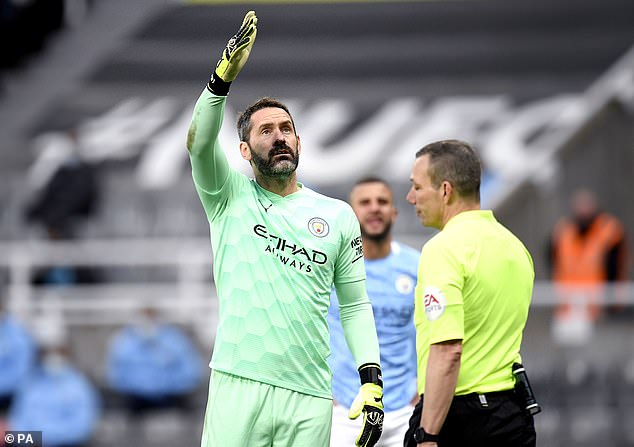 The ex-England keeper has made just one appearance for City, a 4-3 win at Newcastle in May