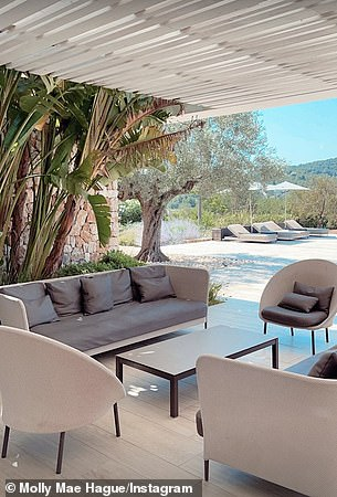 Sumptuous: as well as the various seating areas of the sumptuous accommodation