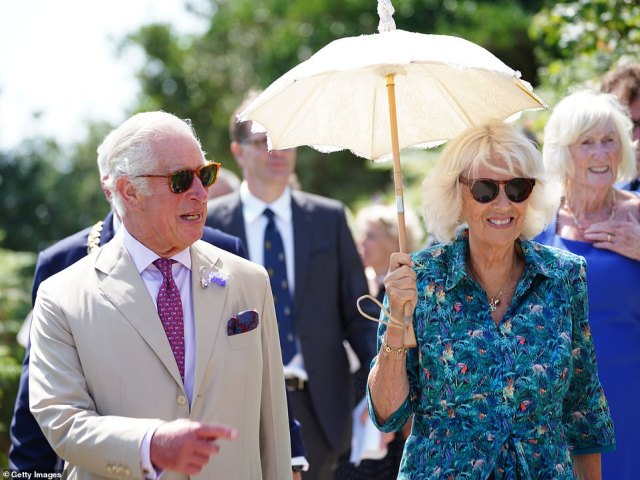 It could be 'the last straw' for Harry and his family (Charles and Camilla pictured), with relations already at breaking point, insiders said