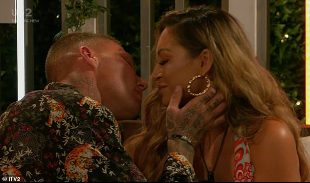 Moving on:as AJ seemed stunned by Hugo's change of heart, she was shortly seen taking Hugo's advice as she shared a chat with Danny, before they shared a steamy kiss