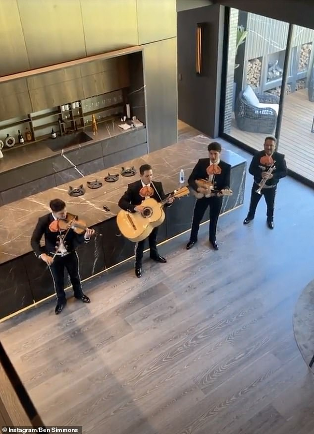 Private performance:In a video posted to Instagram Stories, the band members are seen performing in Ben's kitchen while he claps along on the second level of his home