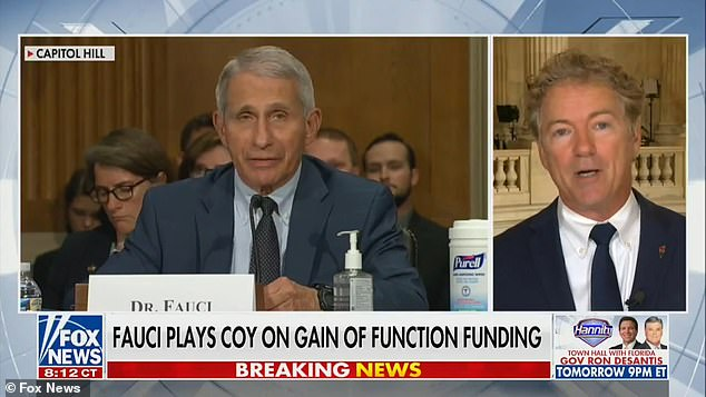 Senator Rand Paul on Tuesday night appeared on Fox News, and announced he had written to the Justice Department seeking a criminal referral for Dr Anthony Fauci, accusing him of lying to Congress