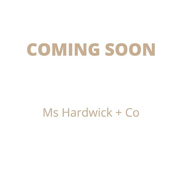 One eye on the past: In a nod to her past with the three-time premiership winning AFL coach, she has named the venture Ms Hardwick + Co