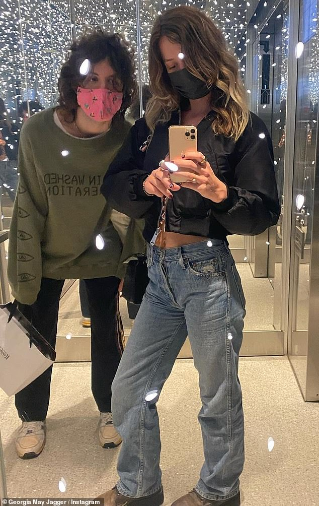Dynamic duo: The pair showed off their close bond in cute selfies taken while out and about shopping and dining in the City of Angels