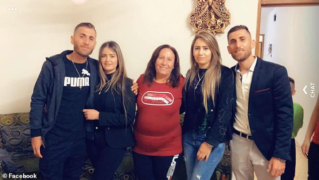 Covid tragedy: Mrs Shawka (centre) died after coming down with the disease. Her twin removalist sons Roni and Ramsen and her widower husband Adel are also infected