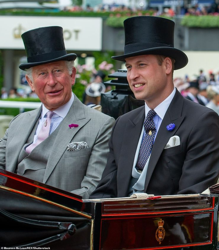 Prince Charles and Prince William arrive at Royal Ascot on June 18, 2019