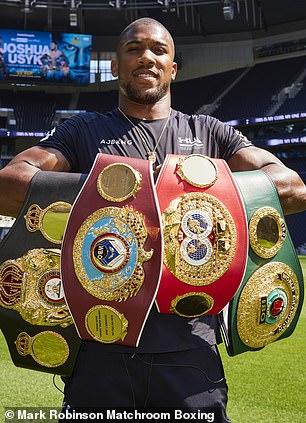 Anthony Joshua will defend his four world heavyweight titles at Tottenham Stadium