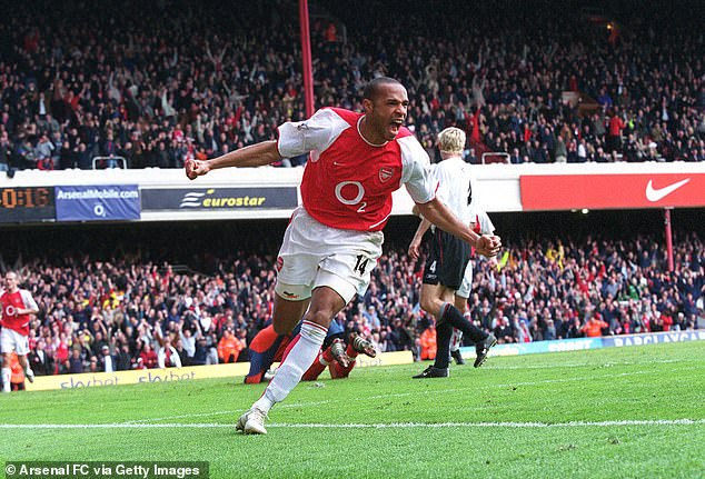 He grew up supporting Arsenal and idolizing Thierry Henry - he even vowed to get better than the Gunners legend