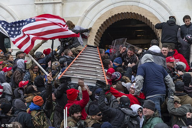 The Capitol Hill mob tries to break into the building on Jan. 6