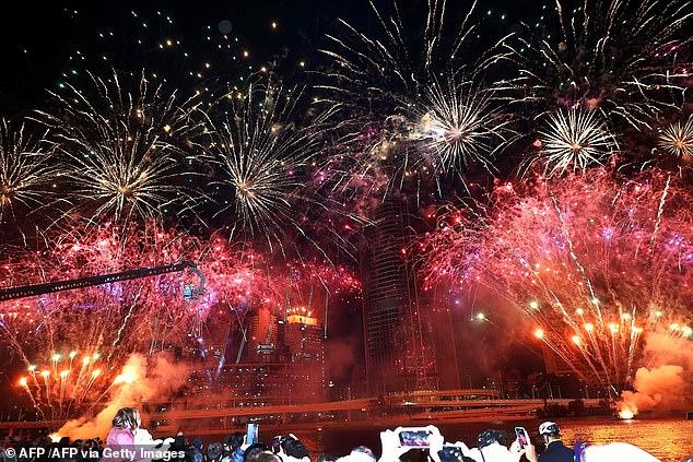 In Brisbane braken woensdagavond feestelijke scènes uit nadat de stad de Olympische Spelen van 2032 had gekregen