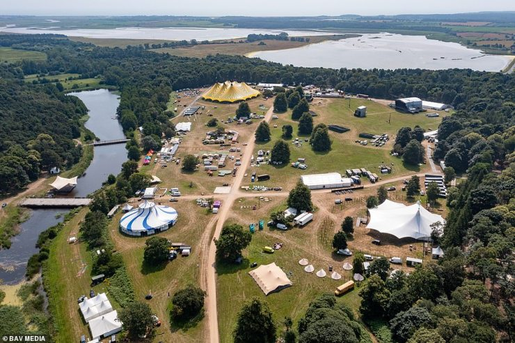 Henham Park in Suffolk where the Latitude Festival will take place with 40,000 music fans expected to arrive on Thursday for the Covid test event