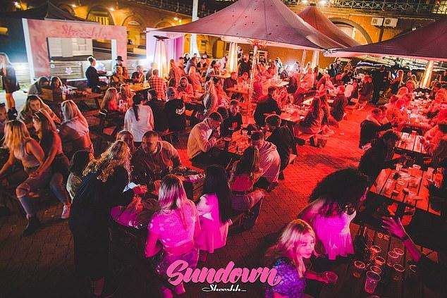 The bouncers are from Brighton's prestigious Shoosh nightclub, which boasts VIP areas