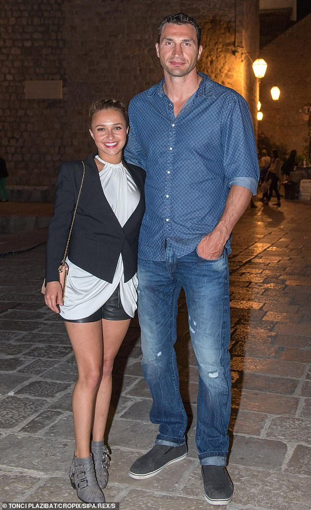 Focused on their daughter: Panettiere and former heavyweight boxing champion Wladimir Klitschko, who share six-year-old daughter Kaya, have remained on good terms since separating in 2018; the former couple are pictured in July 2013