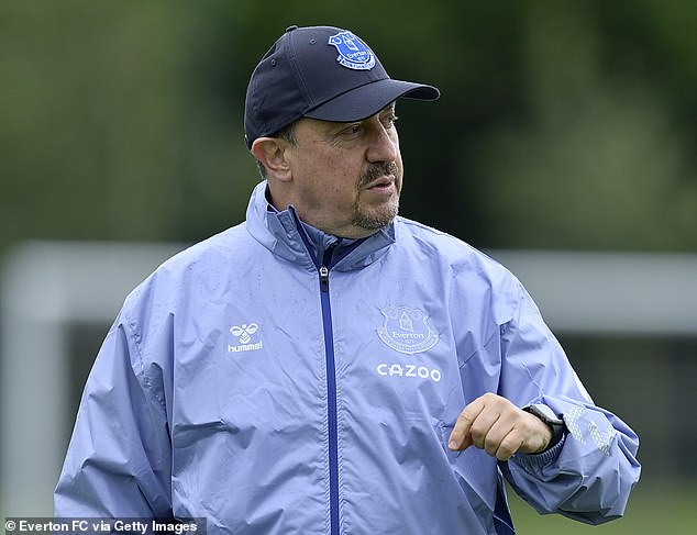 Benitez was controversially unveiled at Everton despite his lengthy coaching stint at Anfield