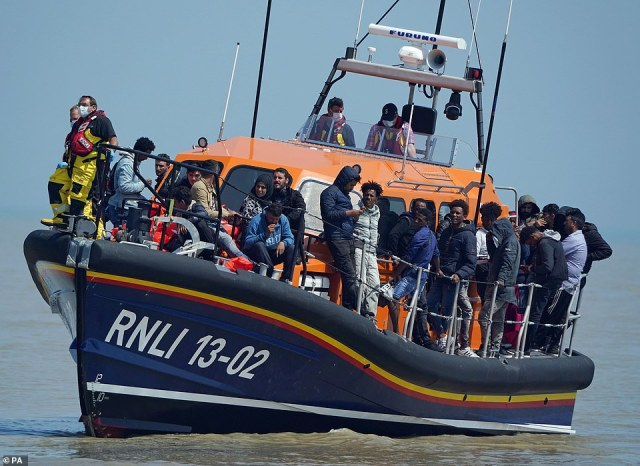 The number of people to have made the perilous journey this year hit 8,452 – surpassing the figure for the whole of 2020. A record daily total of 430 landed in the UK after setting off from France on Monday – and 287 more arrived yesterday
