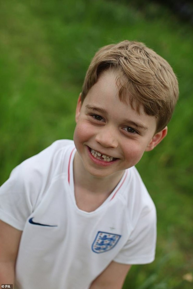 George, who has been described as 'football mad', was pictured in an England shirt ahead of the 2020 Euros this month
