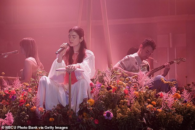Doing her thing:During the TV appearance, Lorde sat for an interview and also performed one of her new songs off her upcoming album