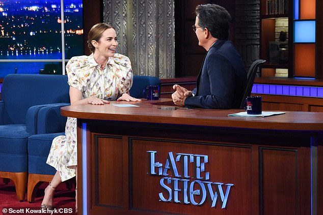 New movie: The 38-year-old English actress during her performance on The Late Show With Stephen Colbert was asked by Stephen, 57, if she had met Dwayne, 49, before filming the Disney movie