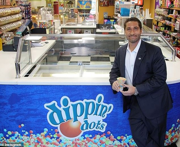 Dippin' Dots CEO Scott Fischer is being sued by an ex-girlfriend who claims he distributed her sexual photos in a custody dispute over their dog and possession of a car they rented together