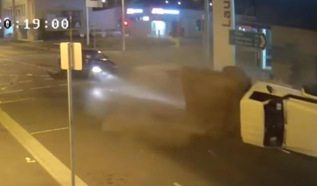 Footage of the pesky T-bone resurfaced online this week, with viewers slamming the ute driver's actions after the crash