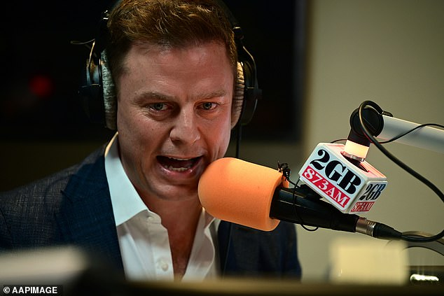 2GB breakfast show Ben Fordham (pictured) called for an end to lockdowns on his radio show on Thursday