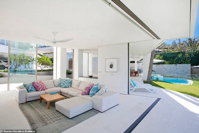 Sitting on over 2000 square metres, the mansion backs onto the ocean and is a 'forever home' on the Sunshine Coast
