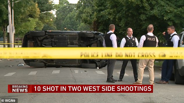 A car is on its side at the second crime scene, but police didn't say how it got there or if it's connected to the crime