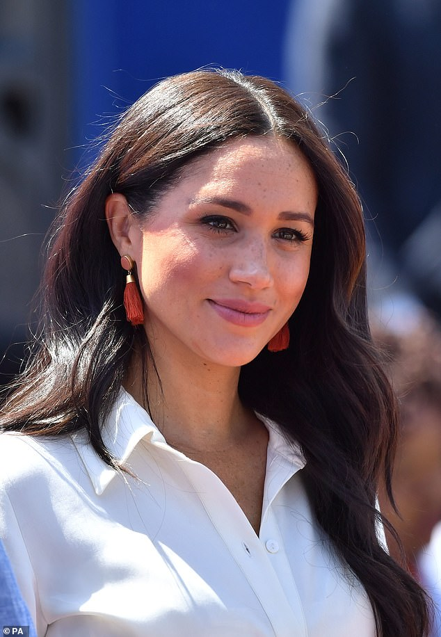 Blasted: The window fitter has criticised his half-sister in the press, describing her as a 'phony' and a 'jaded, shallow, conceited woman'. Meghan is pictured in 2019