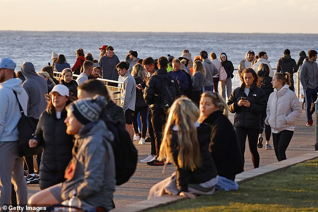 Sydney residents will be locked up until at least July 30.  Pictured: Bronte Beach residents