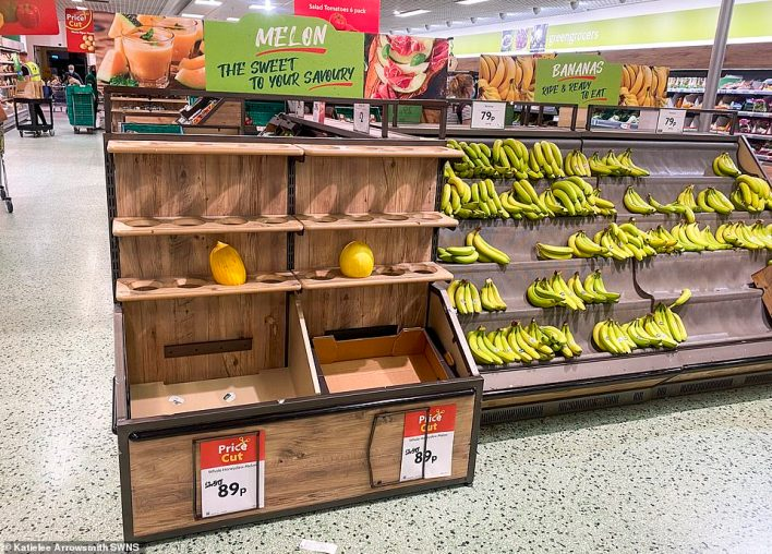 There were only two melons left at this Morrisons in Edinburgh, although the products had been in a promotion