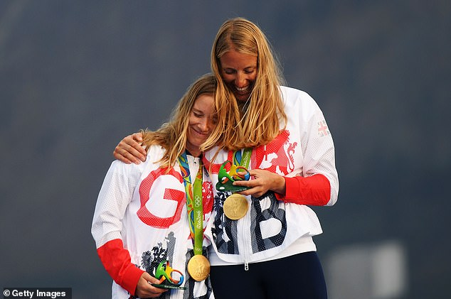 Sailor Mills (left), 33, won gold in the Women's 470 at the Rio Games with Saskia Clark