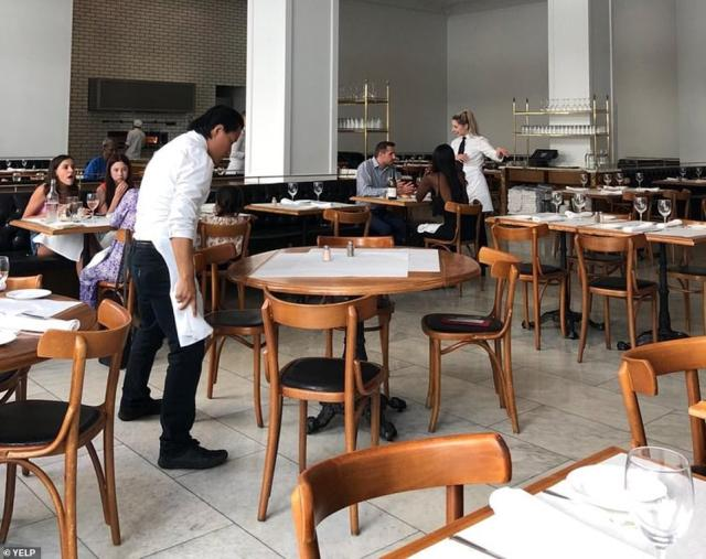 Bottega Louie said that it would voluntarily shutter for an undetermined amount of time to try and prevent the spread of the new strain. Above is a photo of the restaurant before the pandemic