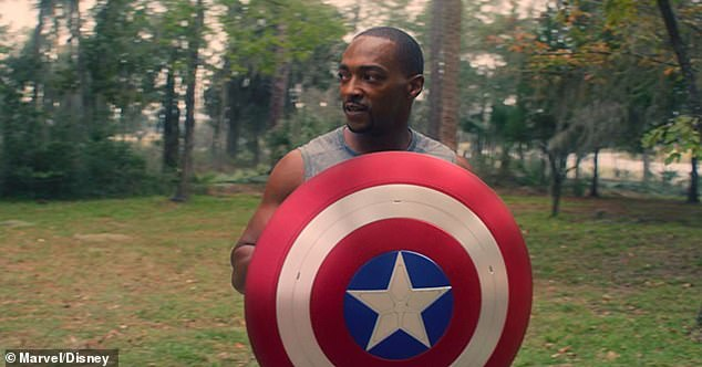 New role:After starring in separate Marvel Cinematic Universe properties this year, Anthony Mackie and David Harbour are joining forces in a new movie for Netflix