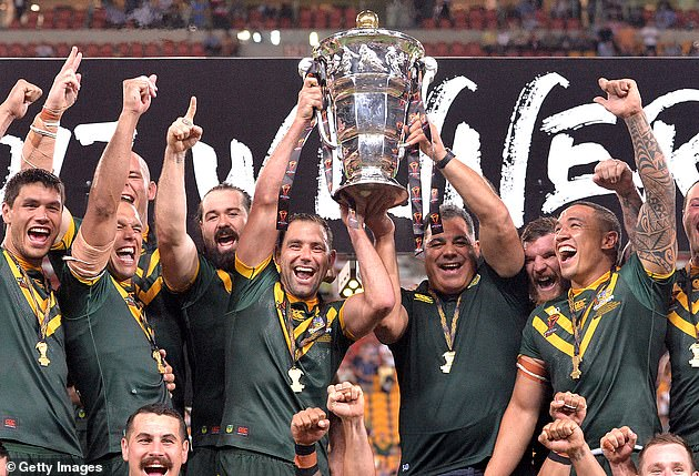 Reigning champions Australia (pictured) and New Zealand have withdrawn from this autumn's World Cup in England over fears of the coronavirus
