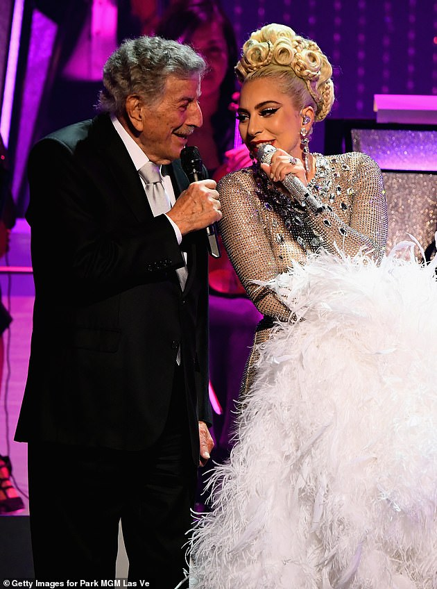 Back together: Bennett shared the news of the concerts on his social media accounts and posted a photo of himself performing with Lady Gaga at her 2019 Jazz & Piano residency in Las Vegas