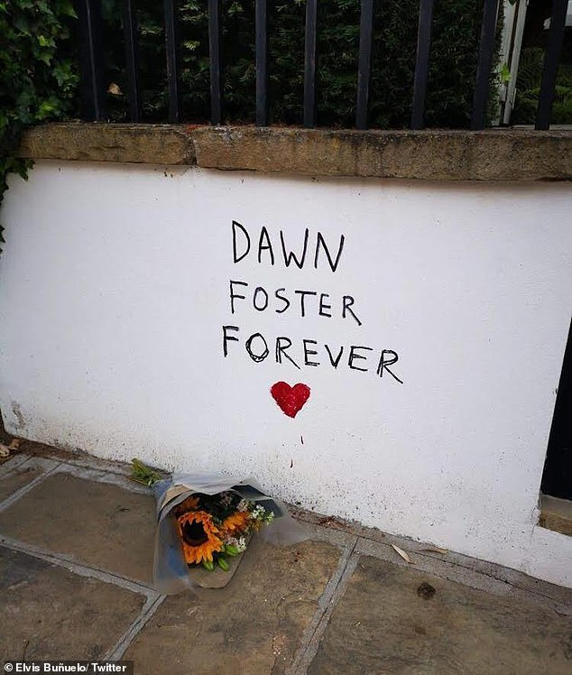 Amid a mounting backlash, the exterior of Mr Coren's house in London was last night daubed in graffiti paying tribute to Ms Foster which read: 'Dawn Foster Forever'. A red heart was drawn underneath