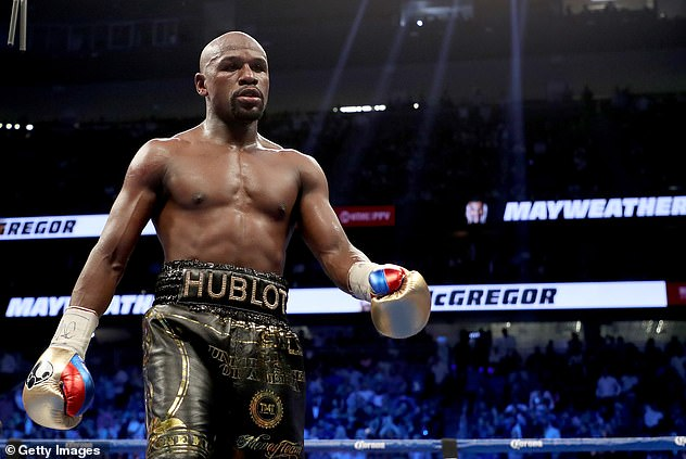 In the Zone: In May, it was reported that Floyd had told Anna to leave his Vegas mansion while preparing for his fight with Logan Paul (pictured during his 2017 Conor McGregor match)