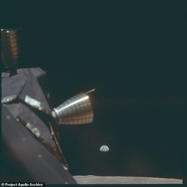 The images were taken from the Project Apollo Archive, a collection of 9,200 high-resolution images taken during every crewed mission to the Moon.