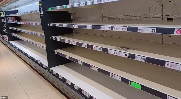 It is similarly bas at the Lidl store in Wolverton, Milton Keynes this morning