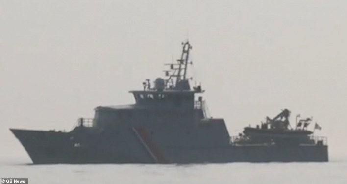 French warships are escorting migrant boats across the Channel into British waters before dumping them on Border Force