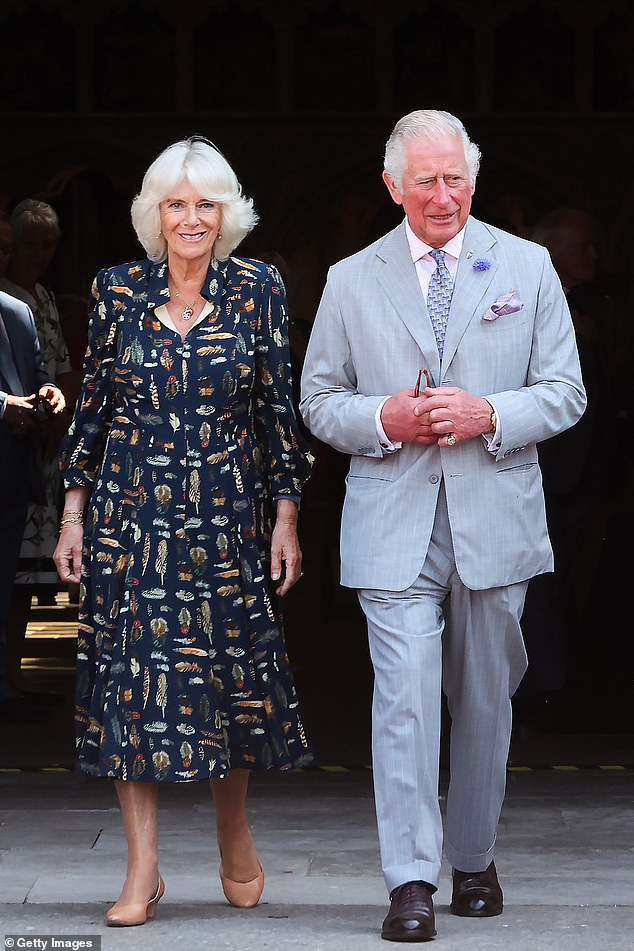 Camilla, Duchess of Cornwall and Prince Charles, Prince of Wales, photos from Exeter Cathedral departure yesterday morning