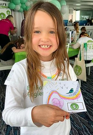 The seven-year-old is the youngest person to give a TED talk after being introduced by Australian children's education organization Thrive for Five